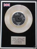 "THE BEATLES - 7"" Platinum Disc - LADY MADONNA"